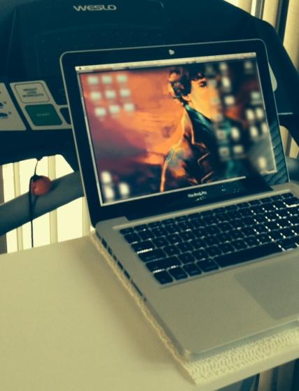 with my laptop (hello, sherlock)