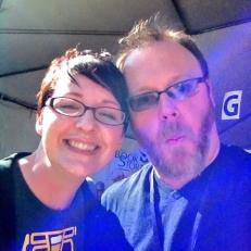 I stalked Chuck Wendig the entire festival until he finally agreed to a selfie.