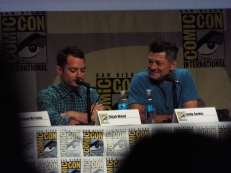 Elijah Wood and Andy Serkis