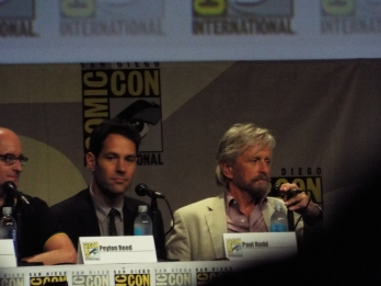 Pau Rudd, Michael Douglas, The Ant Man panel
