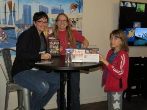Me, fellow YA author Shonna Slayton, and Shonna's daughter