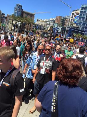 Crowds in the Gaslamp