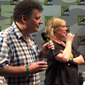 Steven Moffat and Sue Vertue at SherlockeDCC