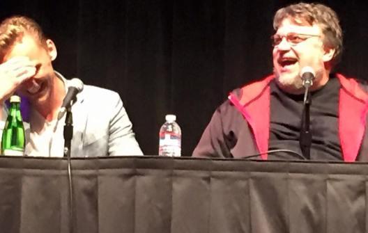 Tom Hiddleston and Guillermo del Toro at the Nerdist podcast