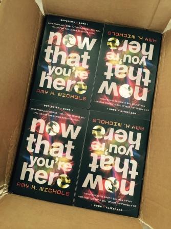 box of paperbacks
